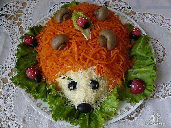 украшение детских салатов фото и рецепт