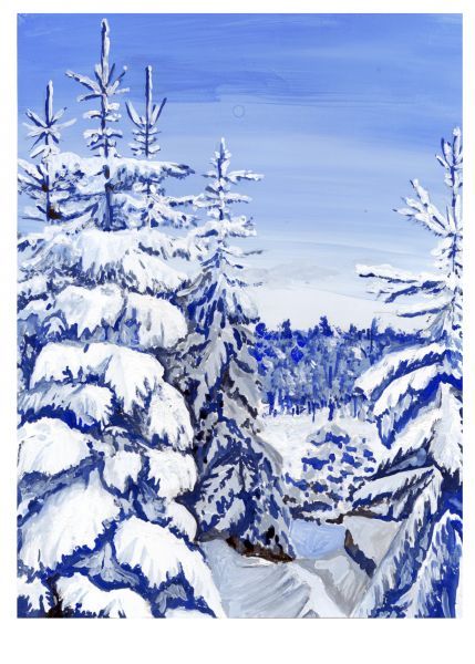 Зимний день. Альпы